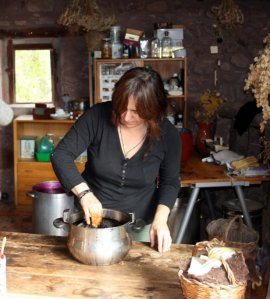 Na Lina al seu taller
